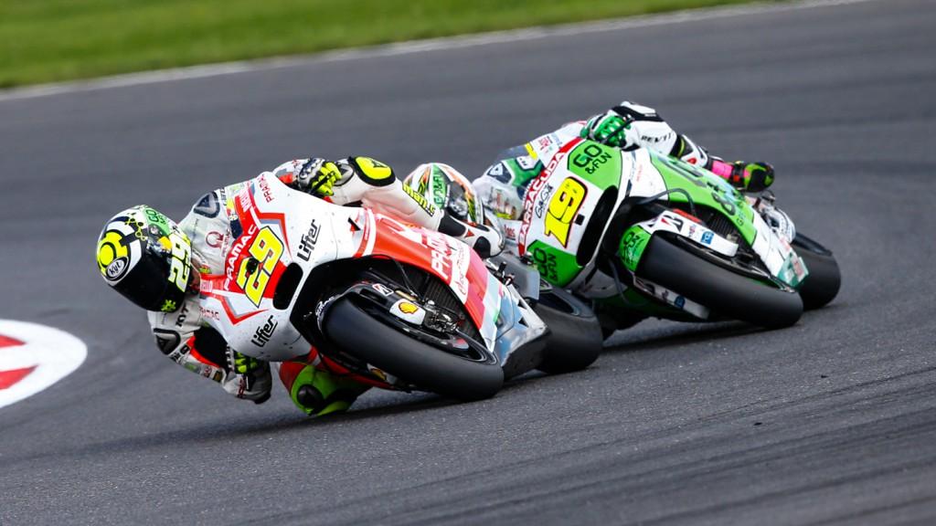 Alvaro Bautista, Andrea Iannone, GO&FUN Honda Gresini, Pramac Racing, GBR RACE