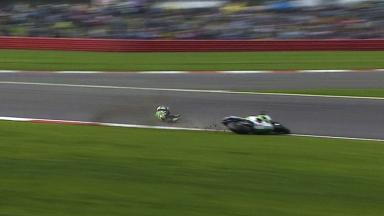Silverstone 2014 - MotoGP - WUP - Action - Alvaro Bautista - Crash