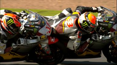 Silverstone 2014 - Moto2 - RACE - Action - Mika Kallio and Esteve Rabat - Face off