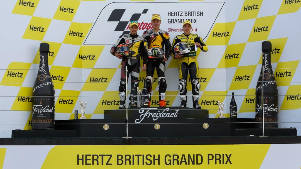 Podium Moto2, GBR RACE