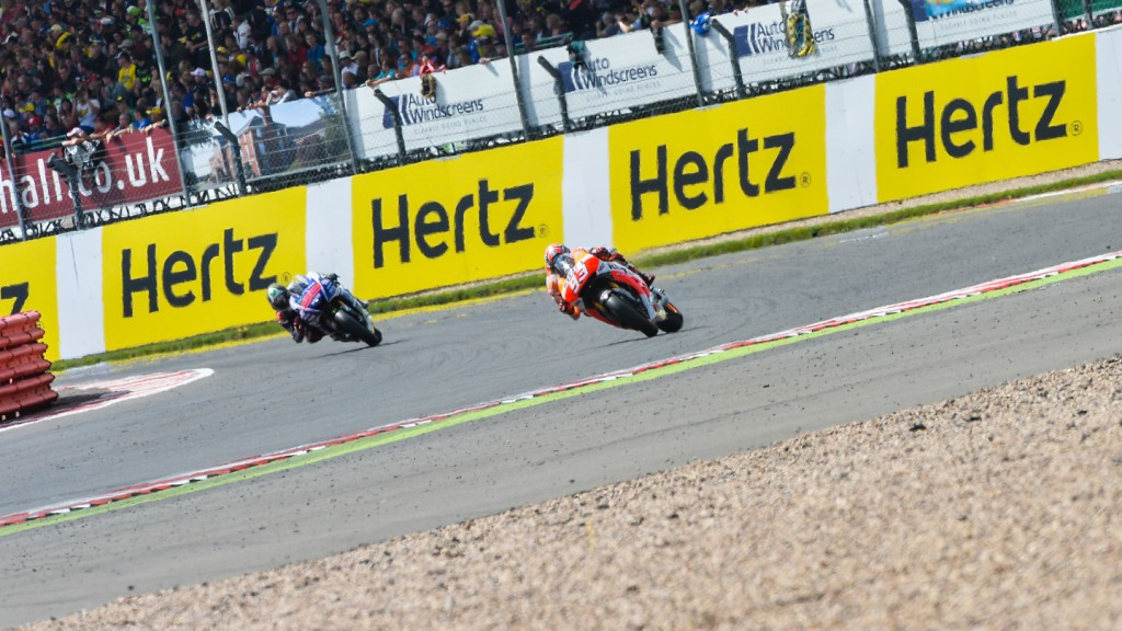 Jorge Lorenzo, Marc Marquez, Movistar Yamaha MotoGP, Repsol Honda Team, GBR RACE