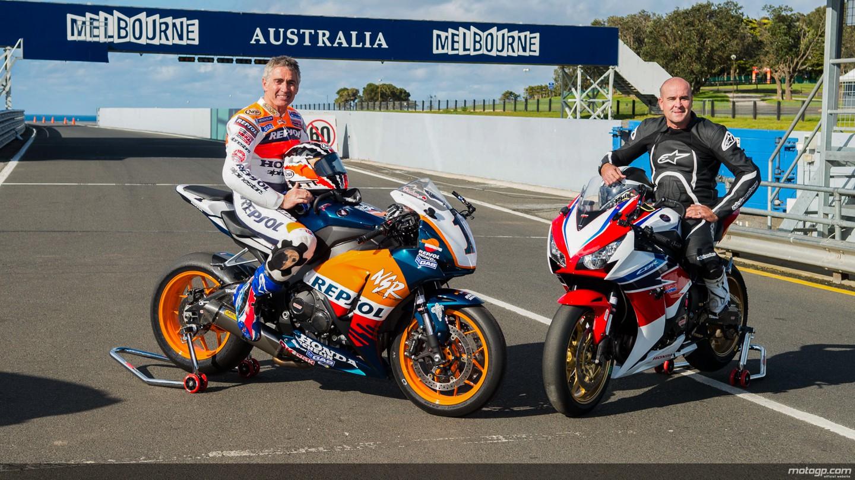 motogp.com · Michael Doohan and Daryl Beattie, Phillip Island Circuit
