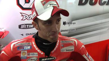 Pace man Dovizioso on impressive first day and first crash of season