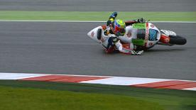 San Marino 2014 - Moto2 - FP2 - Action - Xavier Simeon - Crash
