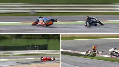 San Marino 2014 - Moto3 - FP1 - Action - Crashes