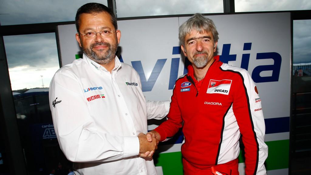Antonio Martin Jimenez, Avintia Racing CEO, & Luigi Dall'Igna, Ducati Corse General Manager