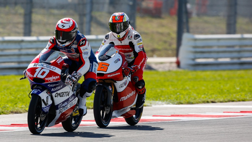 Alexis Masbou, Andrea Migno, Mahindra Racing, Ongetta-Rivacold, RSM QP