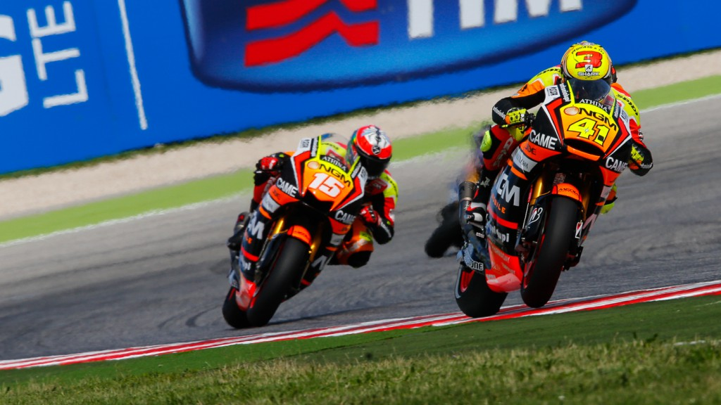 Alex De Angelis, Aleix Espargaro, NGM Forward Racing, RSM FP4