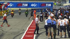 Il tracciato di Misano si conferma pista amica per il maiorchino della Movistar Yamaha che centra la sua prima pole position stagionale seguito dalla Ducati di Andrea Iannone (Pramac Racing) e dal compagno di squadra Valentino Rossi. Marquez resta fuori dalla prima fila.