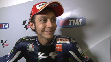 Rossi on front row and with good pace for home race