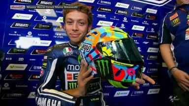 Rossi unveils special Misano 2014 helmet
