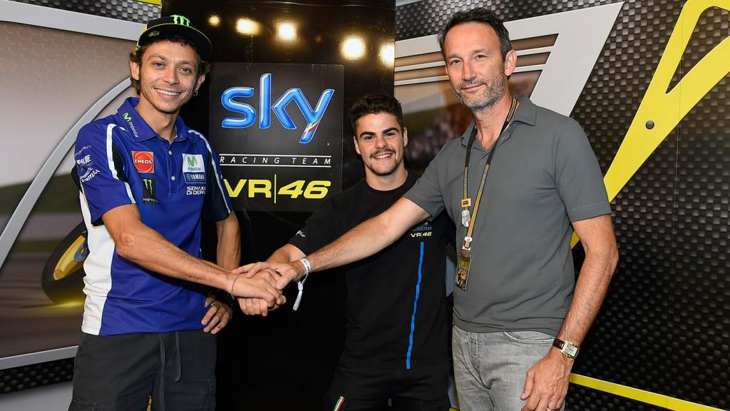 Valentino Rossi, Romano Fenati & SKY Italia Andrea Zappia
