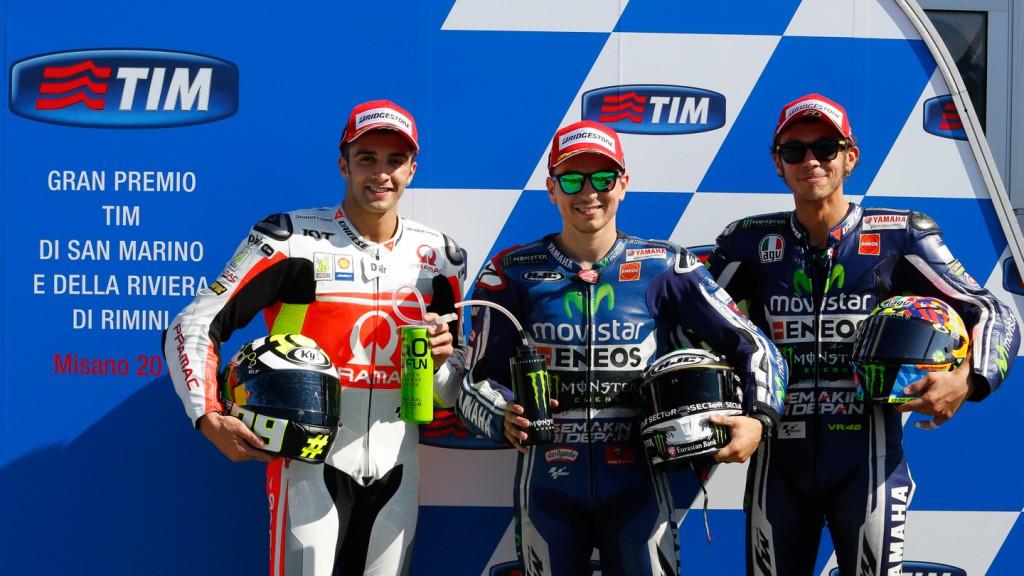 Andrea Iannone, Jorge Lorenzo, Valentino Rossi, Pramac Racing, Movistar Yamaha MotoGP, RSM Q2