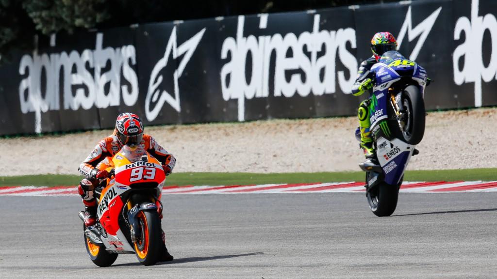 Marc Marquez, Valentino Rossi, Repsol Honda Team, Movistar Yamaha MotoGP, RSM FP4