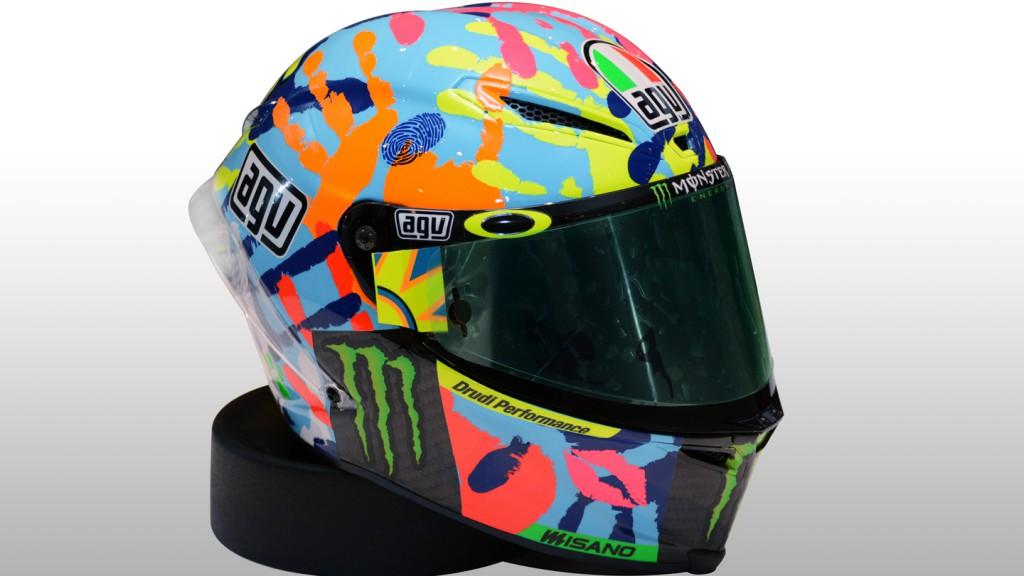 Valentino Rossi's new Misano helmet