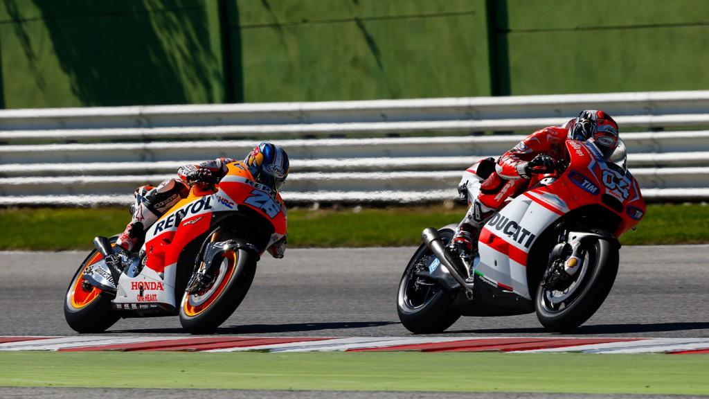 Andrea Dovizioso, Dani Pedrosa, Ducati Team, Repsol Honda Team, RSM RACE