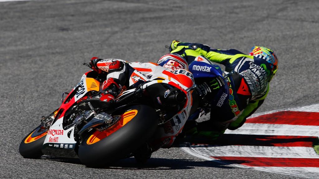 Marc Marquez, Valentino Rossi, Repsol Honda Team, Movistar Yamaha MotoGP, RSM RACE