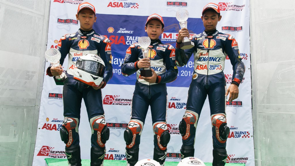 Shell Advance Asia Talent Cup Podium Sepang Race 2