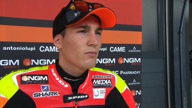 Aleix Espargaro on changing conditions between two sessions