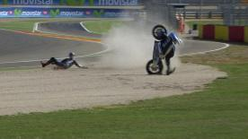 Aragon 2014 - Moto2 - FP1 - Action - Randy Krummenacher - Crash