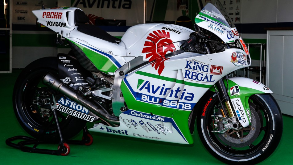 Hector Barbera's bike, Avintia Racing, ARA