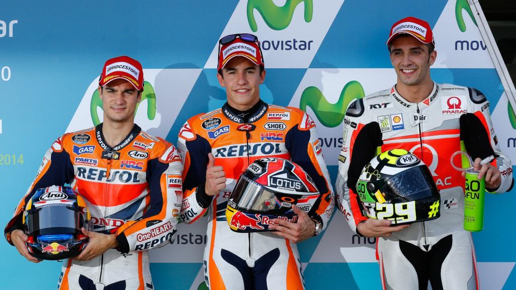 Dani Pedrosa, Marc Marquez, Andrea Iannone, Repsol Honda Team, Pramac Racing, ARA Q2