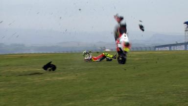 Aragon 2014 - MotoGP - RACE - Action - Andrea Iannone - Crash