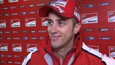 Pain after blow to hip in highside crash for Dovizioso