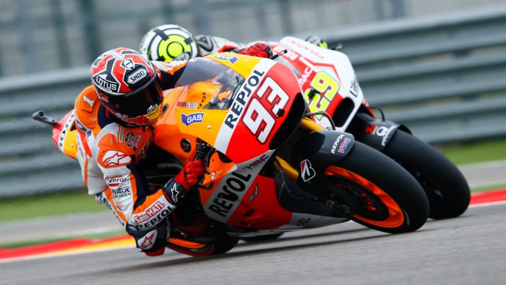 Marc Marquez, Andrea Iannone, Repsol Honda Team, Pramac Racing, ARA RACE