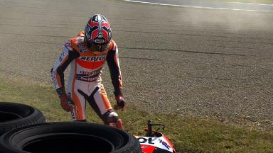Motegi 2014 - MotoGP - FP1 - Action - Marc Marquez - Crash