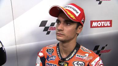 Pedrosa on crash when chasing pole and making the most of front row