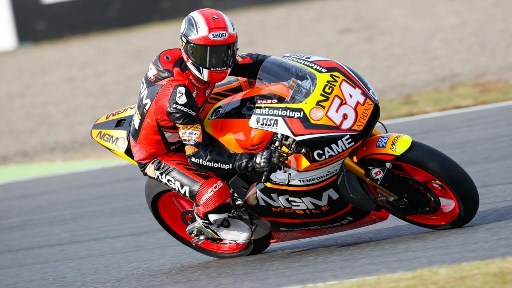 Mattia Pasini, NGM Forward Racing, JPN QP