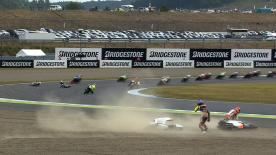 Motegi 2014 - Moto3 - RACE - Action - Crash at Turn 1
