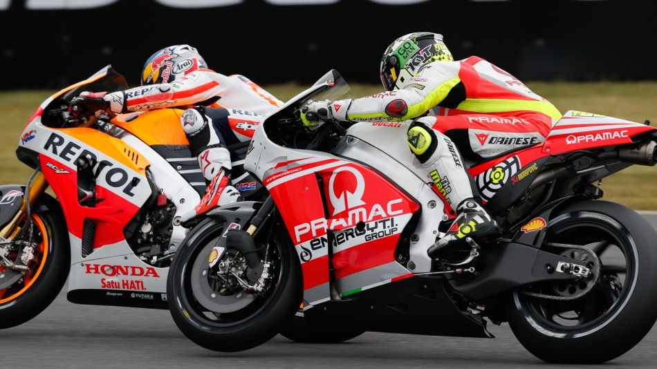 motogp.com · Andrea Iannone, Dani Pedrosa, Pramac Racing, Repsol Honda Team, JPN RACE