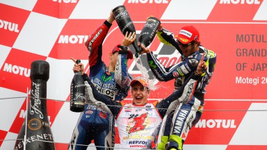 Podium MotoGP, JPN RACE
