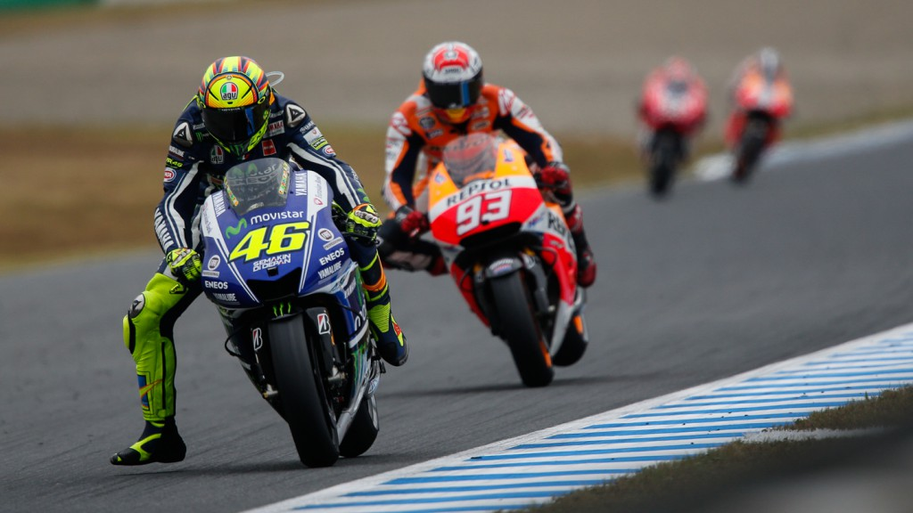 Marc Marquez, Valentino Rossi, Repsol Honda Team, Movistar Yamaha MotoGP, JPN RACE