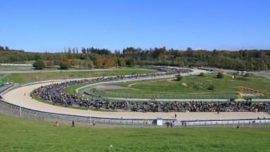 Marco Simoncelli memorial ride at the Brno circuit