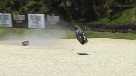 Phillip Island 2014 - Moto2 - FP1 - Action - Tomoyoshi Koyama - Crash