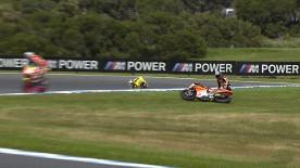 Phillip Island 2014 - Moto2 - FP3 - Action - Sam Lowes - Crash