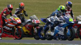 In the Moto2™ race at the Tissot Australian Grand Prix on Sunday, Tito Rabat will get away from the front of the grid as he looks to win the title, followed by Johann Zarco and Mika Kallio on row one.