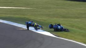 Phillip Island 2014 - Moto3 - FP3 - Action - Romano Fenati - Crash