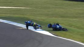 Phillip Island 2014 - Moto3 - FP3 - Action - Romano Fenati - Crash