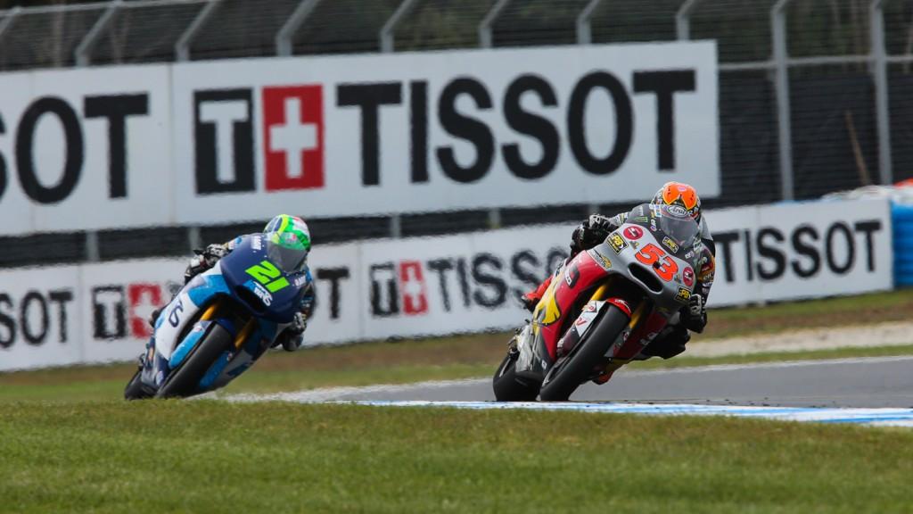 Franco Morbidelli, Esteve Rabat, Italtrans Racing Team, AUS QP