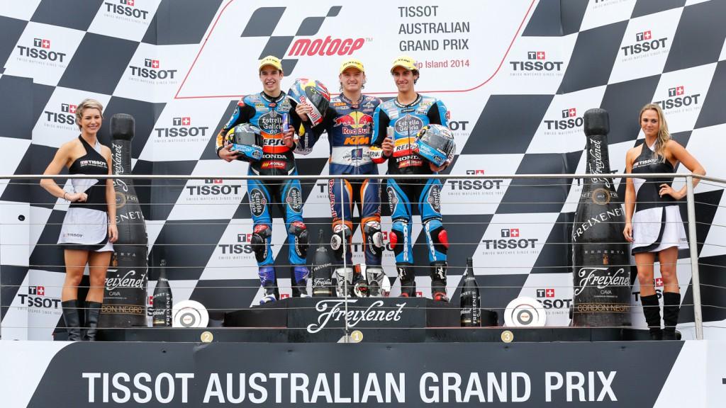 Podium Moto3, AUS RACE