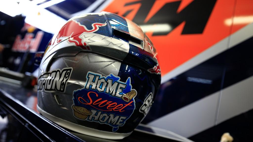 Jack Miller's helmet, Red Bull KTM Ajo, AUS WUP