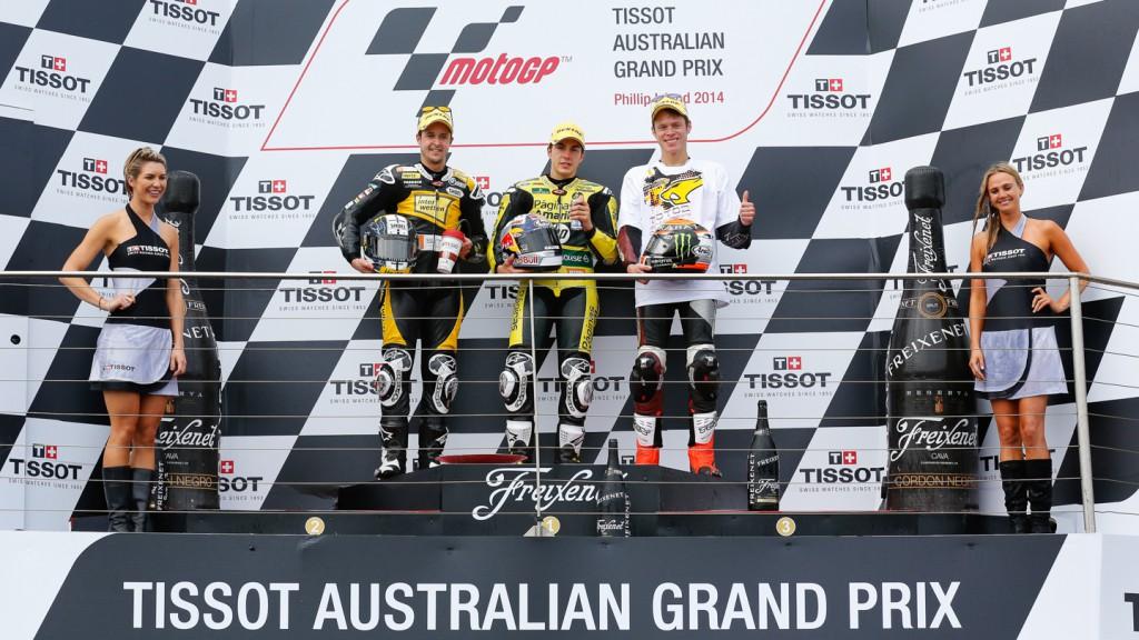 Moto2 Podium, AUS RACE