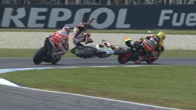 Phillip Island 2014 - MotoGP - RACE - Action - Stefan Bradl - Crash