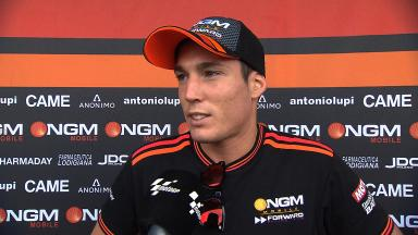 Aleix Espargaro on first half of race and costly crash