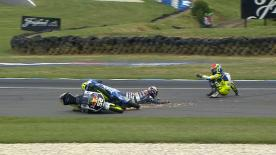 Phillip Island 2014 - Moto3 - RACE - Action - Brad Binder - Danny Kent - Crash