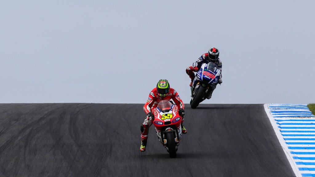 Cal Crutchlow, Jorge Lorenzo, Ducati Team, Movistar Yamaha MotoGP, AUS RACE
